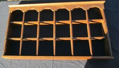 $85 • Buy Vintage Wooden Knick Knack 18 Tea Cup Wall Shelf Collectible Display Spindles
