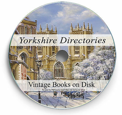 Books Yorkshire Directory Genealogy Research DVD Family Tree History Records 258 • 3.90£