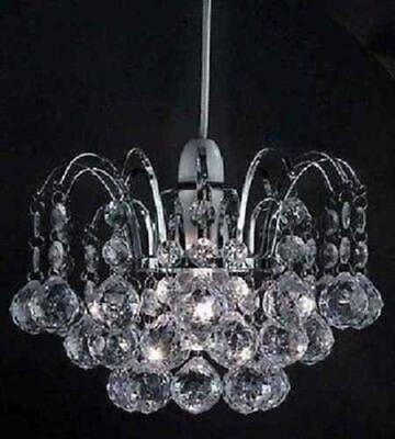 £14.30 • Buy Oriel Ball Drop Pendant Clear Chandilier Style Droplet Acrylic Crystal Beads New