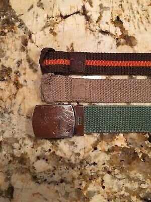 "$3.60 • Buy Lot Of 3 Boys Belts 25"" Long Youth Small  Approx Age 3-5?"