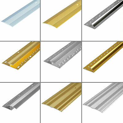 Carpet Metals Cover Strip - Door Bar Trim - Threshold - Edge Silver & Brass • 5.39£