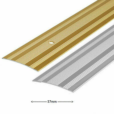 Extra Wide Cover Strip Carpet Vinyl Door Bar Metal Trim Threshold Brass & Silver • 6.79£