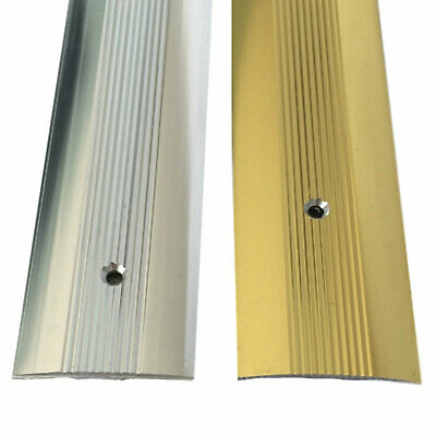 Cover Strip Carpet Metal Vinyl Door Bar Threshold Trim Edging Silver & Brass • 5.39£