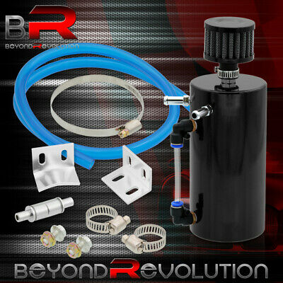 $ CDN40.37 • Buy Black 6  Aluminum Round Engine Oil Catch Tank/Can Reservoir W/ Breather Filter