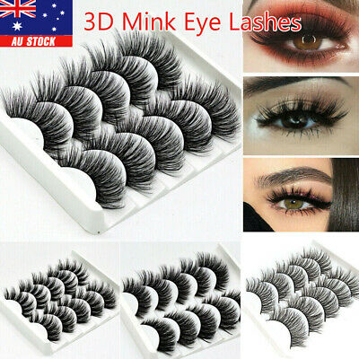 AU1.97 • Buy 10Pairs False Eyelashes Long Thick Wispy Volume Strip Dramatic Lashes Set MakeUp