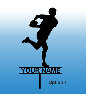 £7.50 • Buy Rugby Themed Cake Topper Personalised. Your Name Or Team Name Options