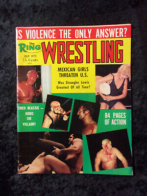 $20 • Buy Vintage July 1972 Ring Wrestling Magazine Fred Blassie & Mexican Girls Cover 854