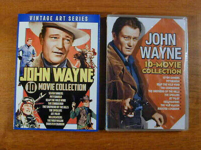$17.75 • Buy JOHN WAYNE 10 MOVIE COLLECTION 2018 DVD SET NEW SEALED W VINTAGE ART SLIPCOVER