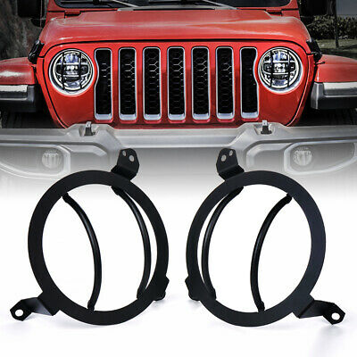 $34.99 • Buy Xprite Steel Front Headlight Guards Cover Trim For 2018-2020 Jeep Wrangler JL JT