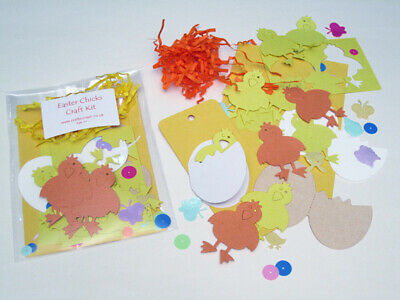 Easter Chicks Craft Kit / Children / New / Cardmaking / Party • 1.25£