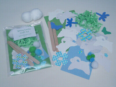 Spring Lambs Craft Kit / Children / New / Cardmaking / Party • 1.25£