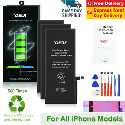 AU25.98 • Buy New Battery Replacement For IPhone 7 8 Plus X 6s 6 Deji Full Capacity 5 SE 5C