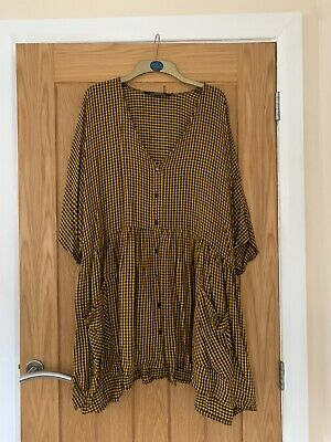 $9.18 • Buy ZARA Black And Yellow Oversize Smock Dress Sizd XL