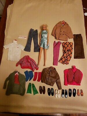 $ CDN19.72 • Buy Vintage BARBIE DOLL MATTEL Marked 1966 With Outfits Estate Find