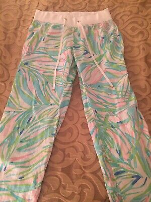 $29.99 • Buy Lilly Pulitzer The Beach Pant Size Large Pastel Print EXCELLENT CONDITION!