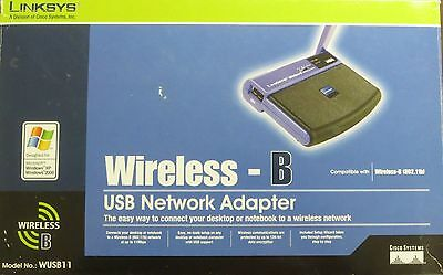 $5.99 • Buy ☛*NIB* LINKSYS USB NETWORK ADAPTER WIRELESS B 11 Mbps DT WUSB11 Sealed☚