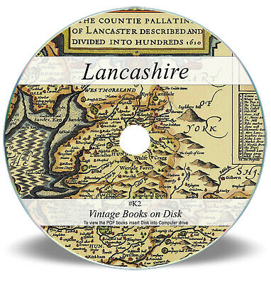 Old Lancashire History & Genealogy Books On CD Rare Parish Registers Records K2 • 3.90£