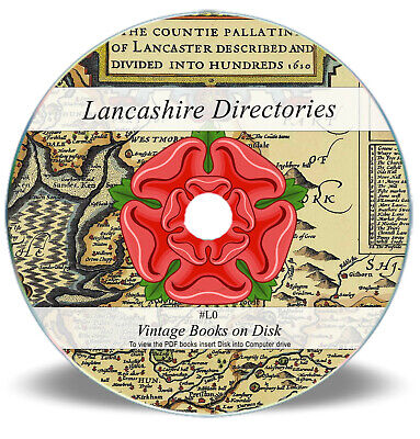 Old Lancashire Directories Books On CD - Rare Local Directory People Places L0 • 3.90£