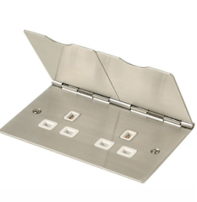 Box Of 5 Click FS032SS 13A 2 Gang Stainless Steel Floor Socket  • 72.99£