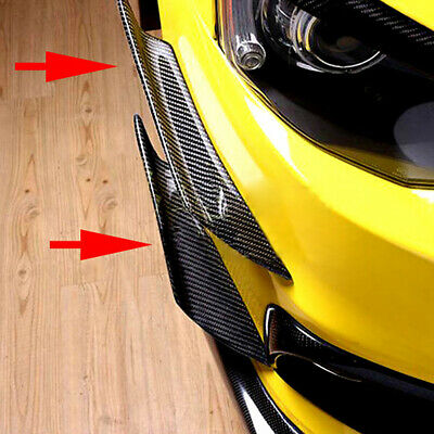 $13.99 • Buy 4x Carbon Fiber Car Bumper Fin Canard Splitter Diffuser Spoiler Lip Accessories