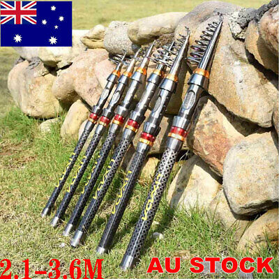 AU25.62 • Buy Telescopic Fishing Rods Carbon Superhard Carbon Fiber Fishing Rods Travel Size