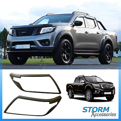 Stx Protective Head Light Guards In Black - Pair For Nissan Navara Np300 2016+ • 37.68£