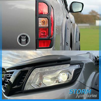 Stx Head Light And Tail Light Guards  In Black For Nissan Navara Np300 2015 On  • 65£