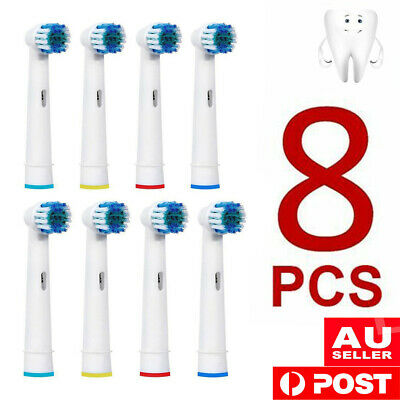 AU11.99 • Buy 8pcs Replacement Brush Heads For Oral-B Electric Toothbrush Precision Clean Mode