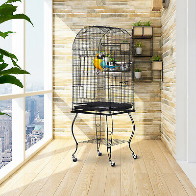 PawHut 1.4m Bird Cage Parrot Finch Macaw Conure Pet Supply Play Top Stand Perch • 62.99£