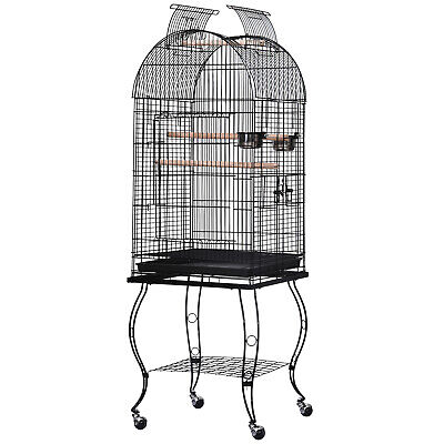 £62.99 • Buy PawHut 1.4m Bird Cage Parrot Finch Macaw Conure Pet Supply Play Top Stand Perch