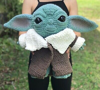 $125 • Buy The Child Crochet Amigurumi Mandalorian Plush Baby Yoda Pattern By CraftyisCool