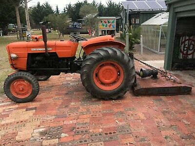 AU3900 • Buy Tractors Used Fiat 414, With Slasher, Engine Runs Excellent, Man Transmission