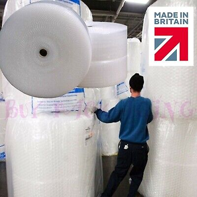 £6.89 • Buy BUBBLE WRAP ROLLS SMALL LARGE (300mm, 500mm, 750mm) - FREE UK NEXT DAY DELIVERY