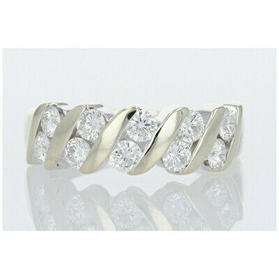 $799.99 • Buy LEO® 1.00ctw Diamond Channel Set Band Ring 14k White Gold Size 7