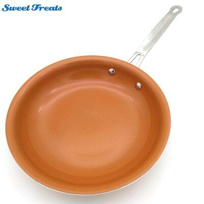 $26.99 • Buy Sweettreats 8/10/12 InchNon-stick Copper Frying Pan With Ceramic Coating And