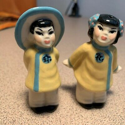 $4.65 • Buy Vintage Salt & Pepper Shakers:  Wee Chinese Ceramic Arts Studio
