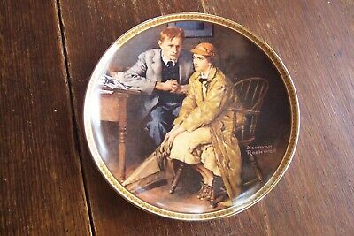 $ CDN9.40 • Buy Norman Rockwell Collector Plate  Confiding In The Den  Rediscovered Women Series