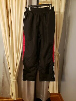 $7.99 • Buy  Tek Gear Boys Athletic Wind Lined Pants Black & Red Pockets  L 14-16