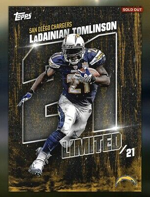 $4.64 • Buy Topps Huddle LaDAINIAN TOMLINSON Limited Legends Jersey # Award 21cc *DIGITAL*