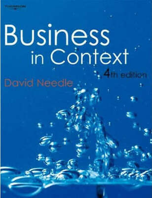 Business In Context: An Introduction To Business And Its Environment By David • 3.69£