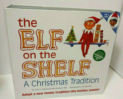 AU102.45 • Buy The Elf On The Shelf A Christmas Tradition Storybook And Blue Eyed Boy