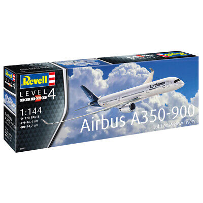 Revell Airbus A350-900 Lufthansa  New Livery  Aircraft Model Kit - Scale 1:144 • 21.99£