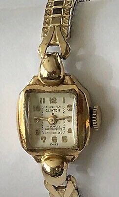 $ CDN10.51 • Buy Vintage Clinton Womens Watch 10k RGP~ Needs Repair Or Parts
