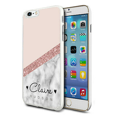 Personalised Marble Phone Case Cover For Apple Samsung Initial Name - Ref 04 • 5.52£