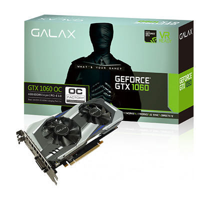 $ CDN236.84 • Buy Galax GeForce GTX 1060 3G 3GB GDDR5 OC Video Card