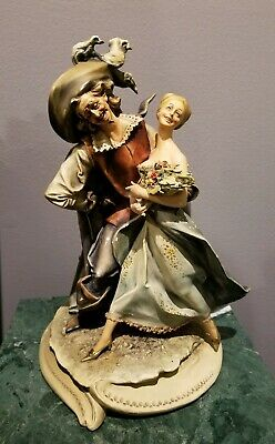 $ CDN203.79 • Buy Antonio Borsato Antique Porcelain Statue Figurine Musketeer And Lady 13 X 9