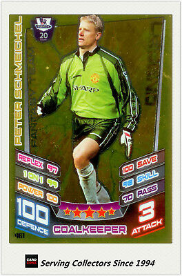 2012-13 Match Attax Legend Foil Card #461 Peter Schmeichel (Arsenal) X 10 • 46.22£