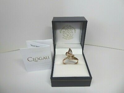 Clogau Gold, 9ct Rose Gold Diamond Butterfly Ring, Size O 1/2 RRP £480 • 128£