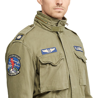 $199.99 • Buy Polo Ralph Lauren Men Military US Army M-65 Patched Officer Soldier Field Jacket
