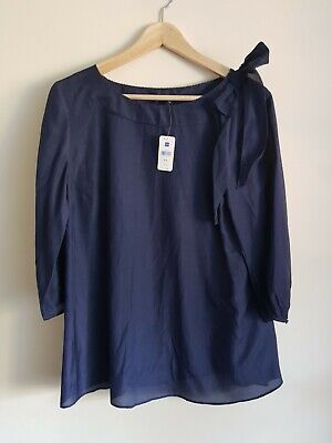 Gap Maternity Size M Lightweight Summer Top - Navy Blue • 8.50£